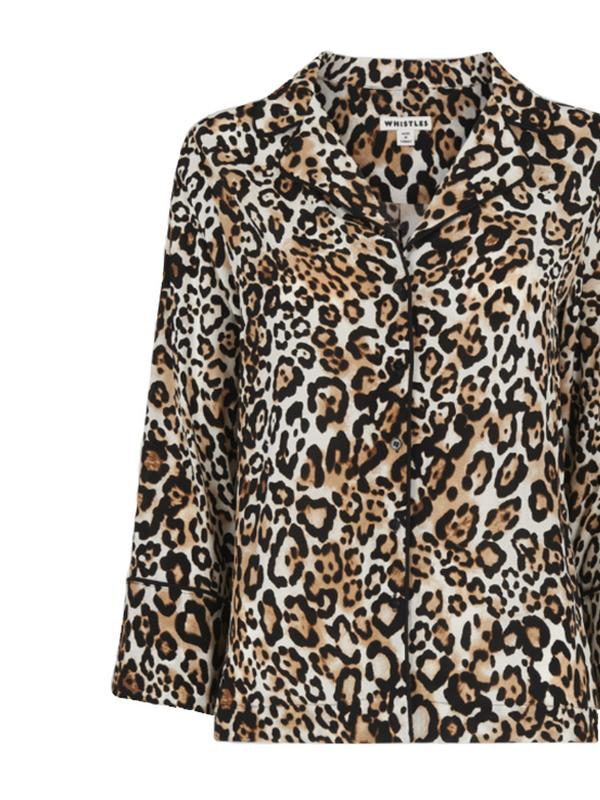 whistles animal print PJ top