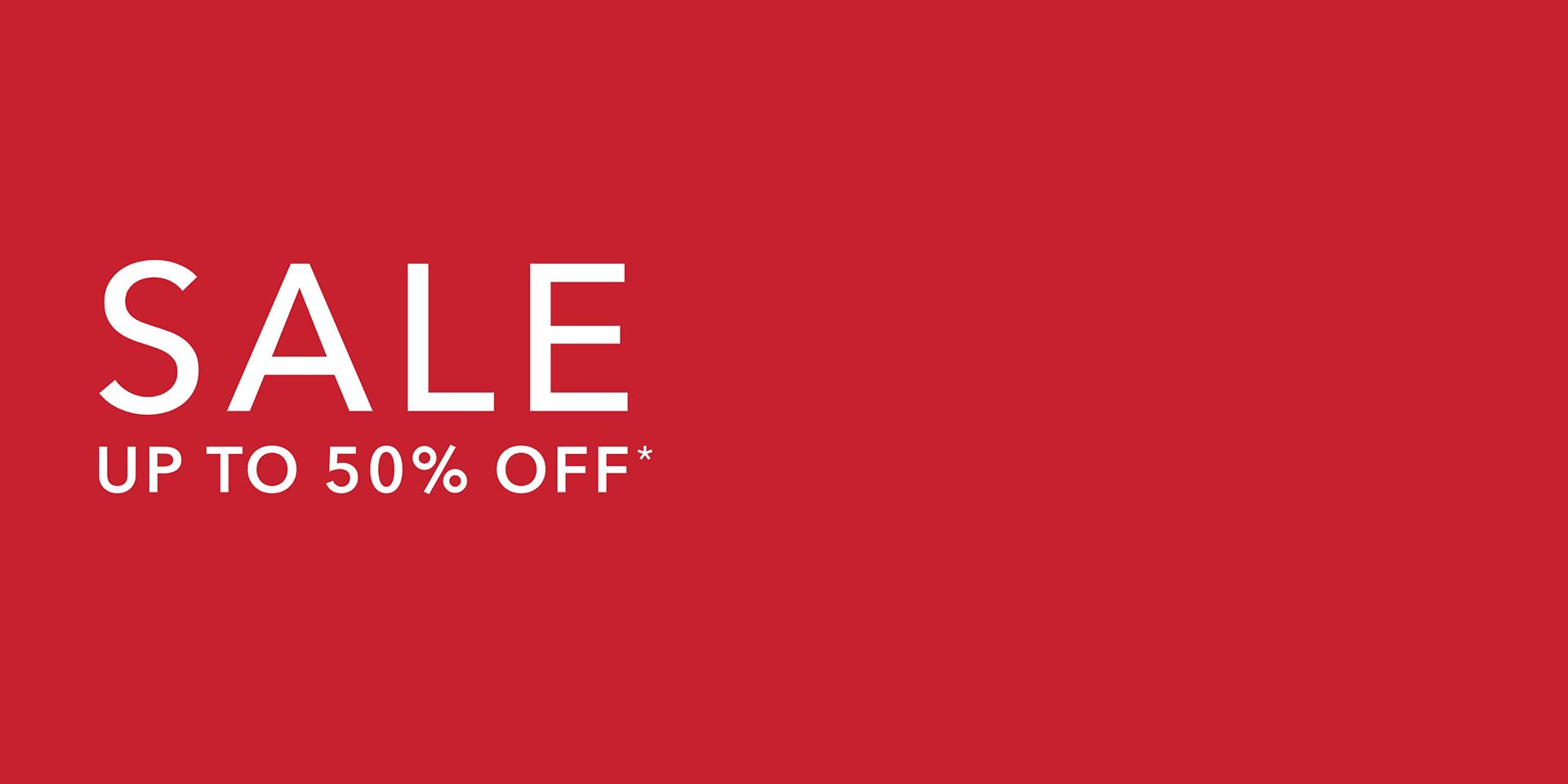 sale up to 50% off graphic