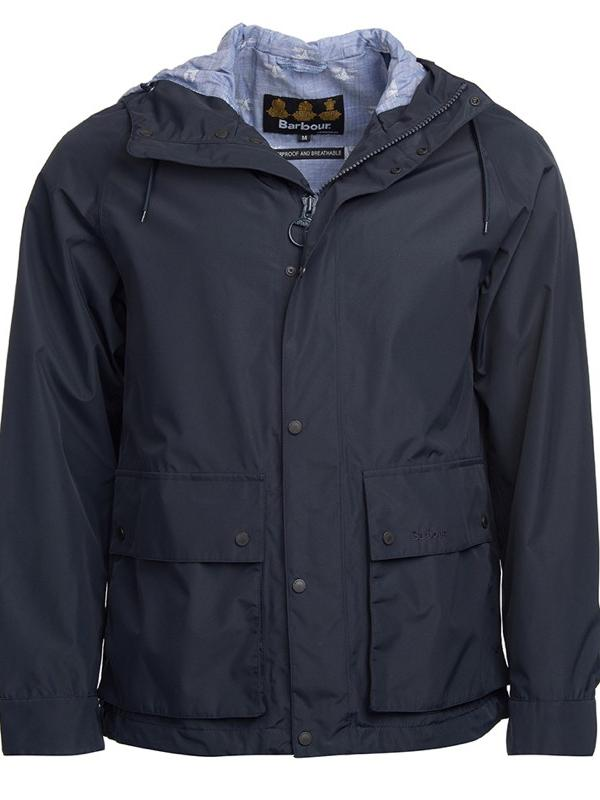 Barbour Men's Twine Waterproof Jacket in Navy