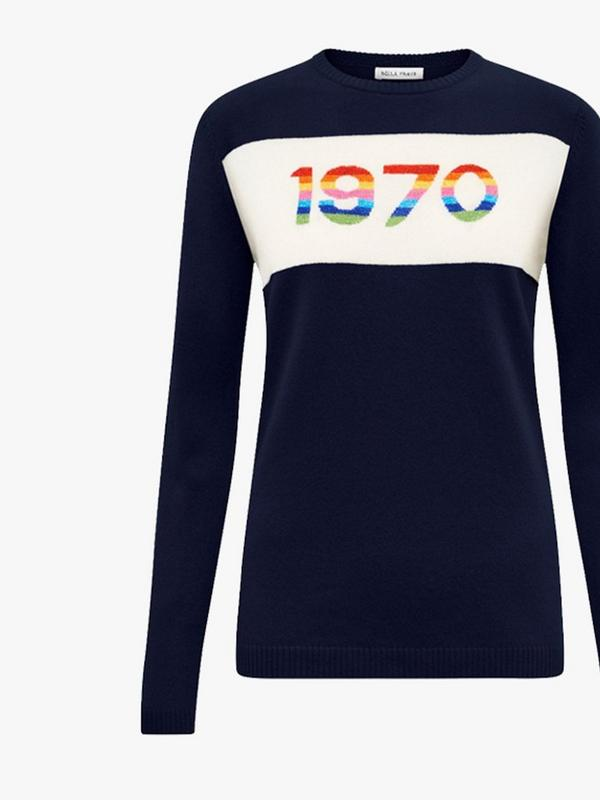 bella freud 1970 rainbow cashmere jumper