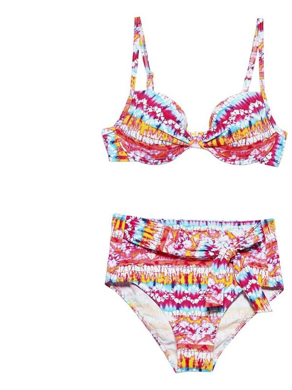 esprit multicoloured high waisted bikini