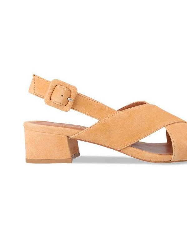 By FAR Anelia Nude Suede Sandals
