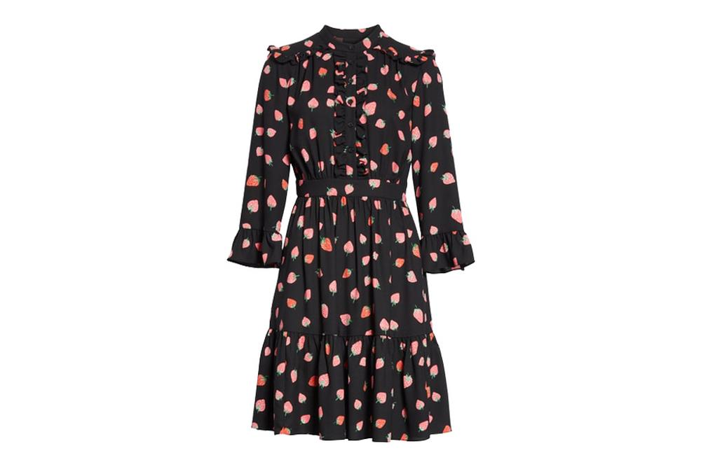 kate spade new york tossed berry shirt dress