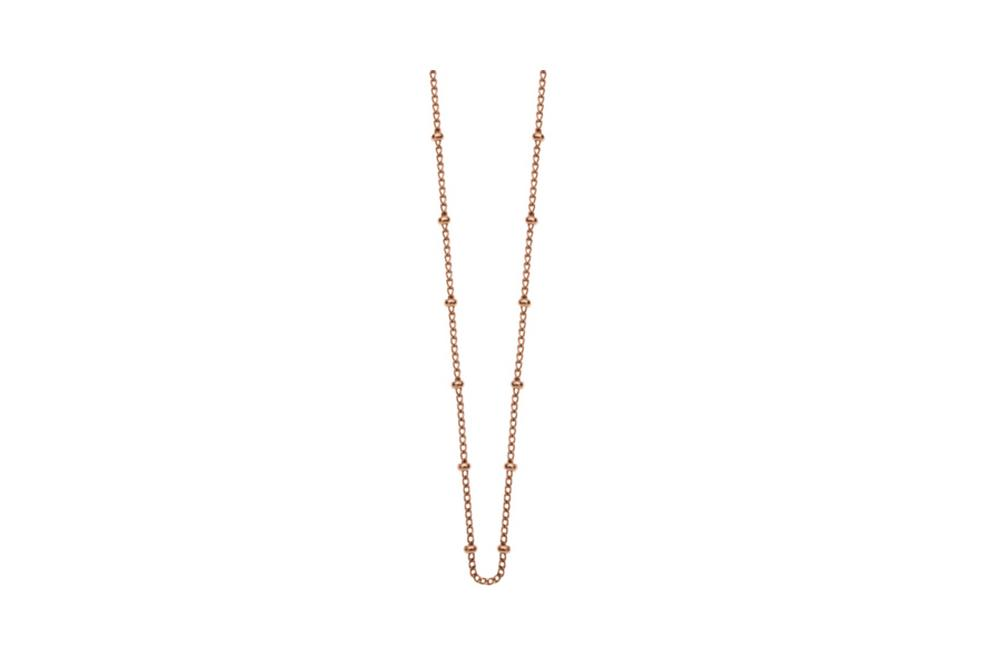 kirsten ash ball chain rose gold necklace