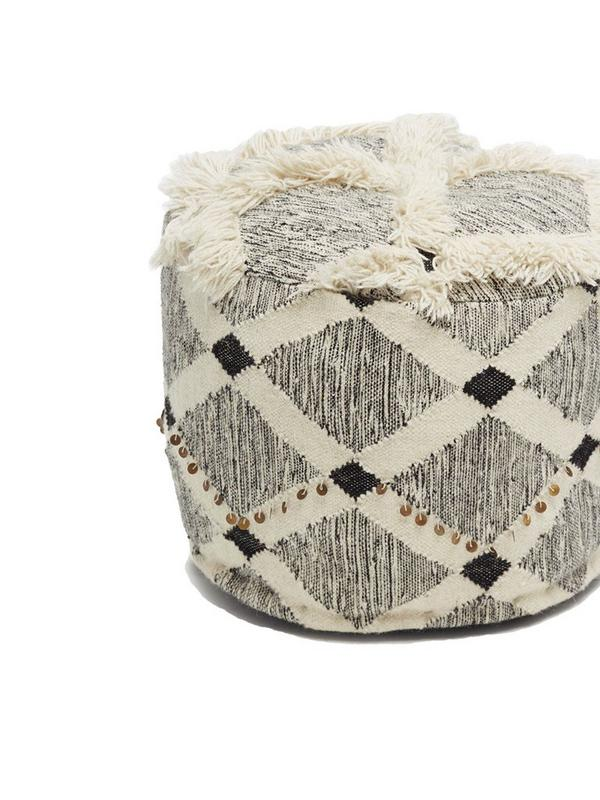 french connection large sequin pouffe