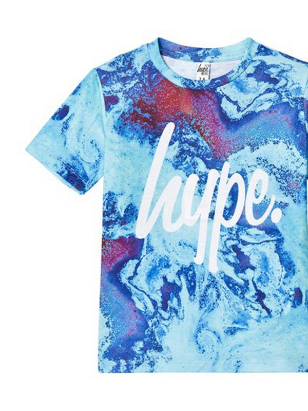 Hype oil split t-shirt