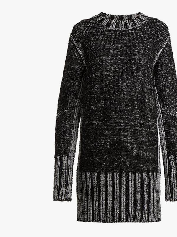 maison margiela metallic heavy-knit sweater dress
