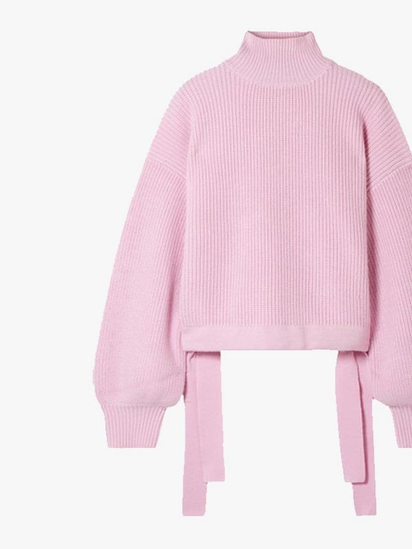 paper london candyfloss pink wool jumper