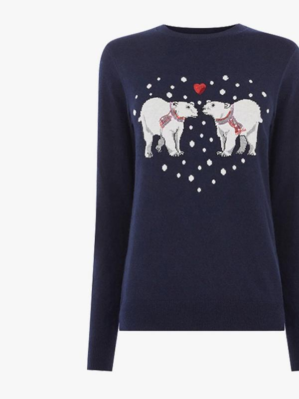 warehouse polar bear christmas jumper
