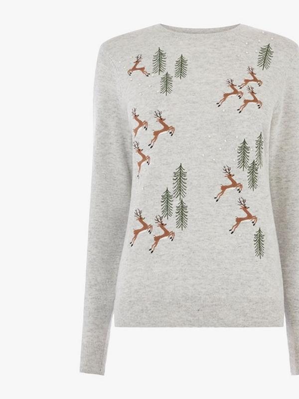 warehouse reindeers christmas jumper