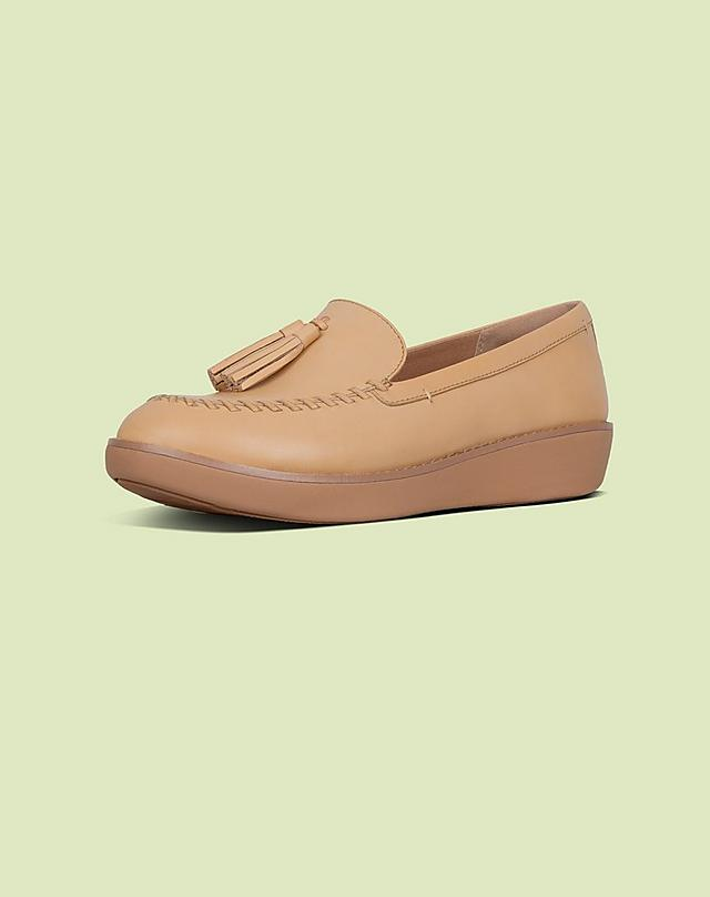 Petrina Leather Loafers in Blush