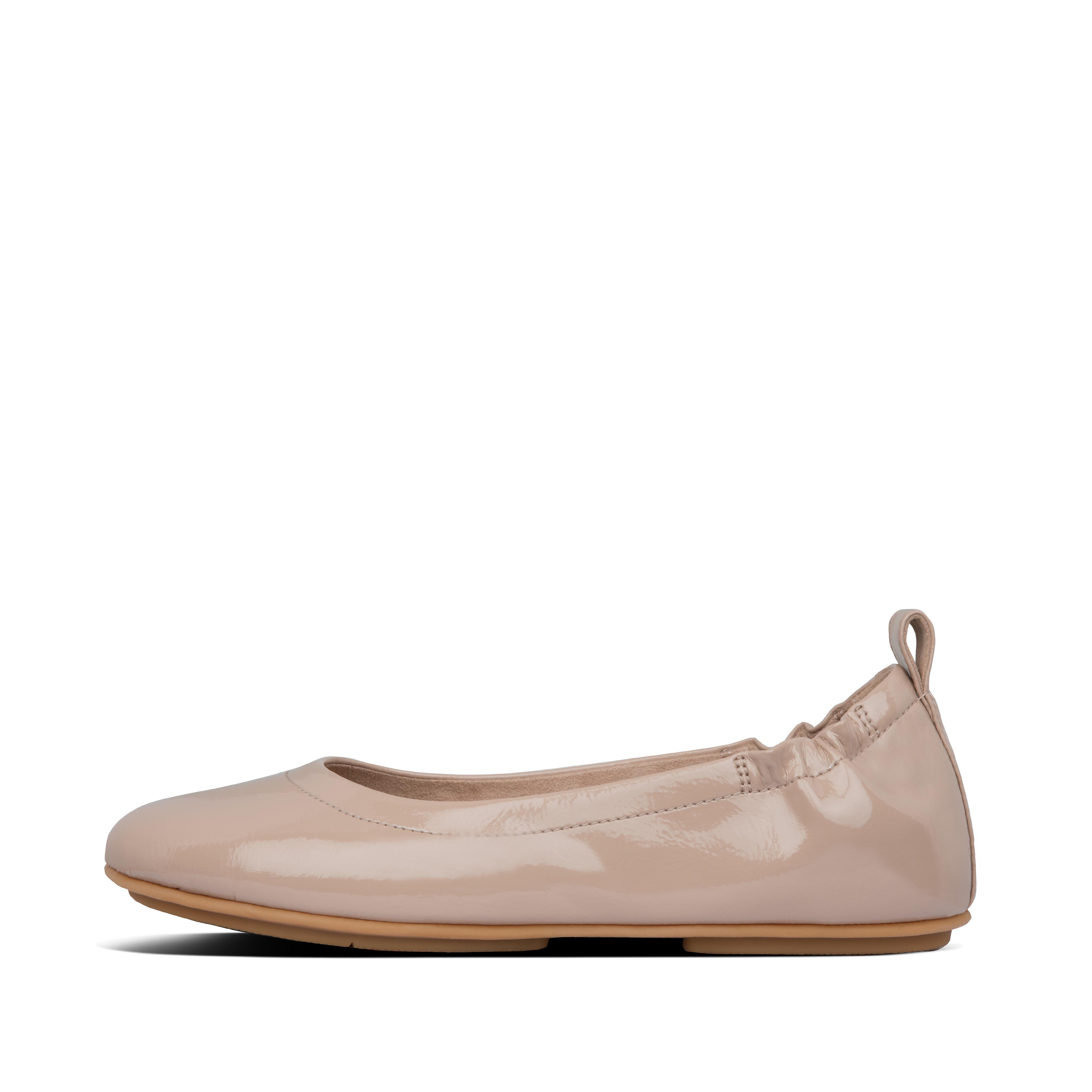 Allegro crinkle patent ballerinas taupe ae6 076?v=3