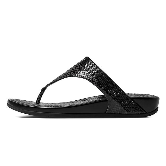 ce89f7a44765 Fitflop™ Women s Banda Leather Slide Black