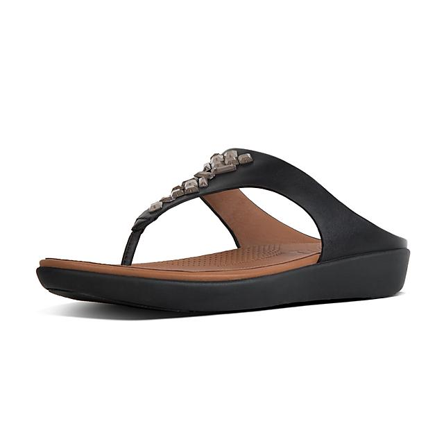 5616fb09f22b9 BANDA II. Crystal Leather Toe-Thongs