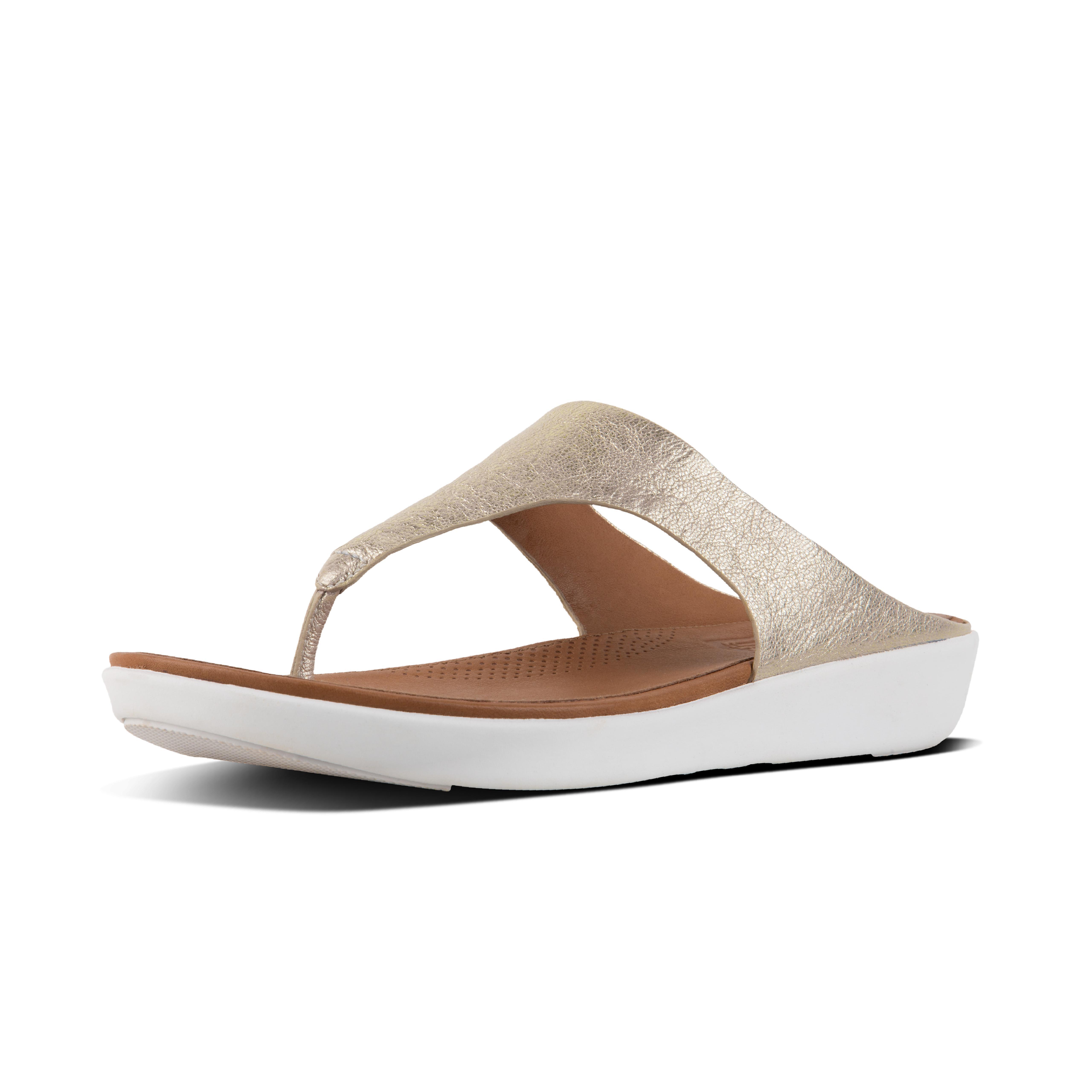 Banda ii toe thong sandals metallic leather metallic silver l17 527?v=3