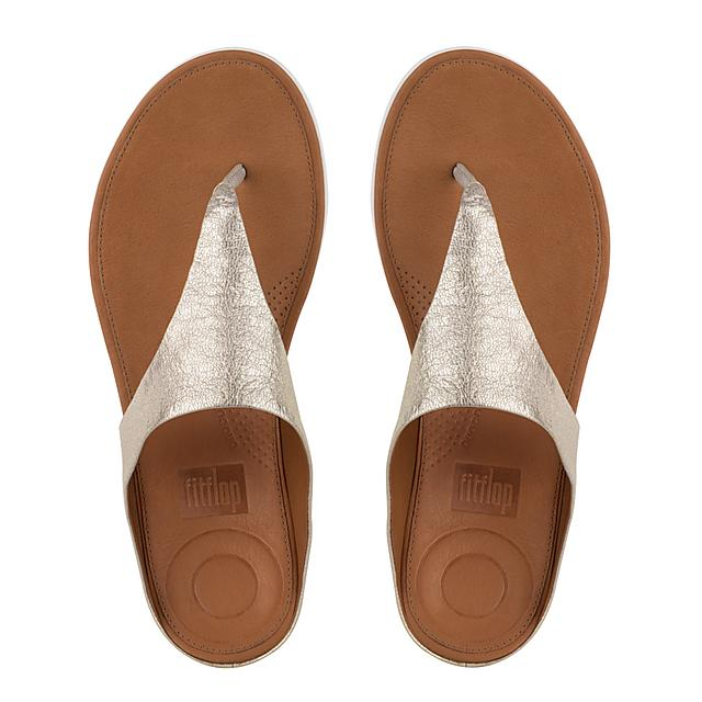 ce1e9c64b56 BANDA II. Metallic Leather Toe-Thongs