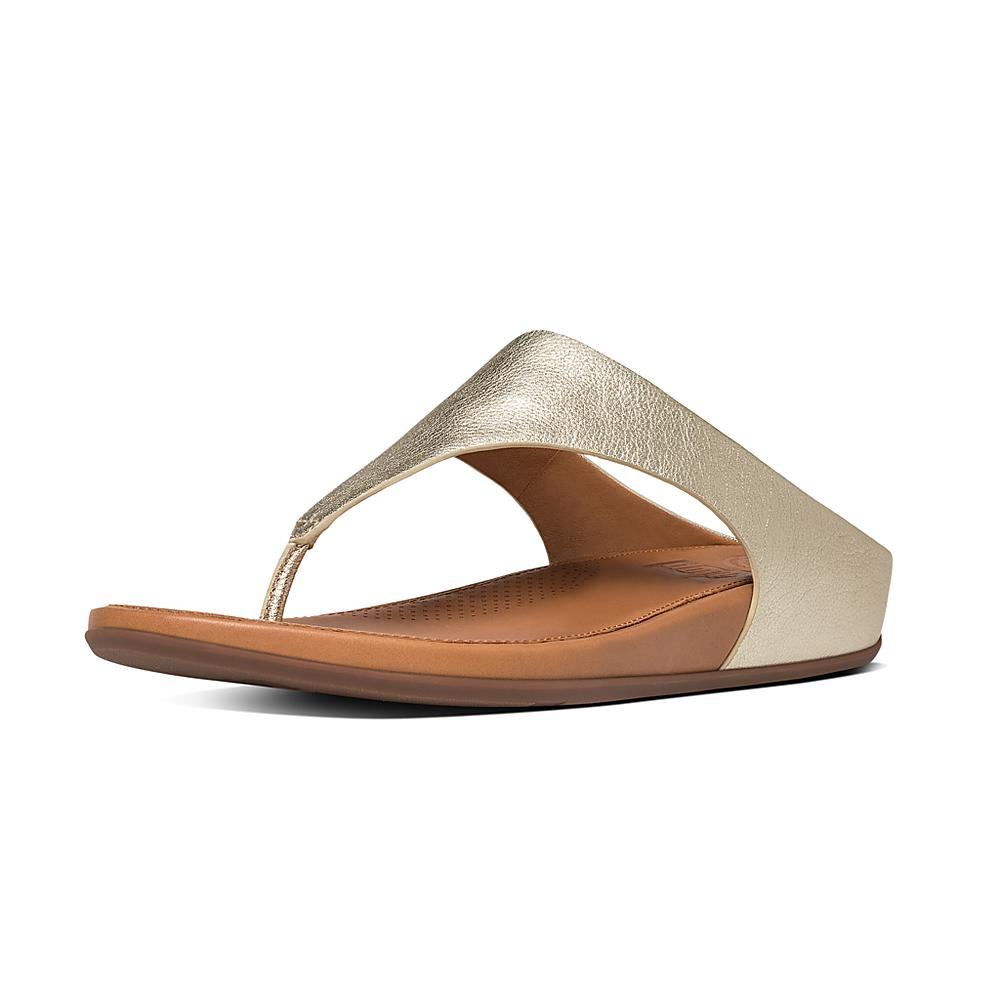 Strata Toe-Thong Sandals - Whipstitch Leather Colour: Black, S FitFlop