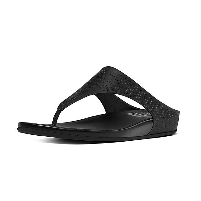 226ccb39b328 Fitflop™ Women s Banda Leather Toe-Thongs Black