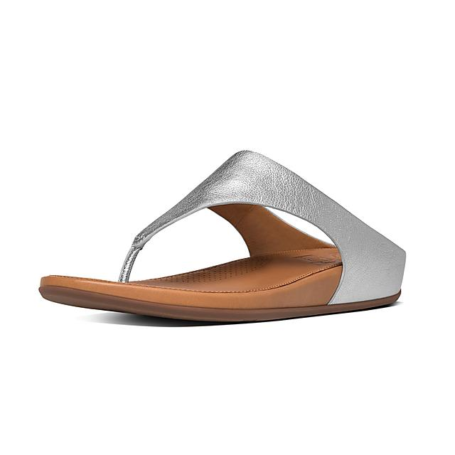 6e631e68a84f Fitflop™ Women s Banda Leather Toe-Thongs Silver