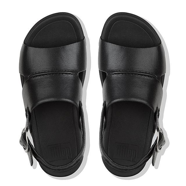 1d609504c915 BANDO. Men s Lizard-Print Leather Sandals