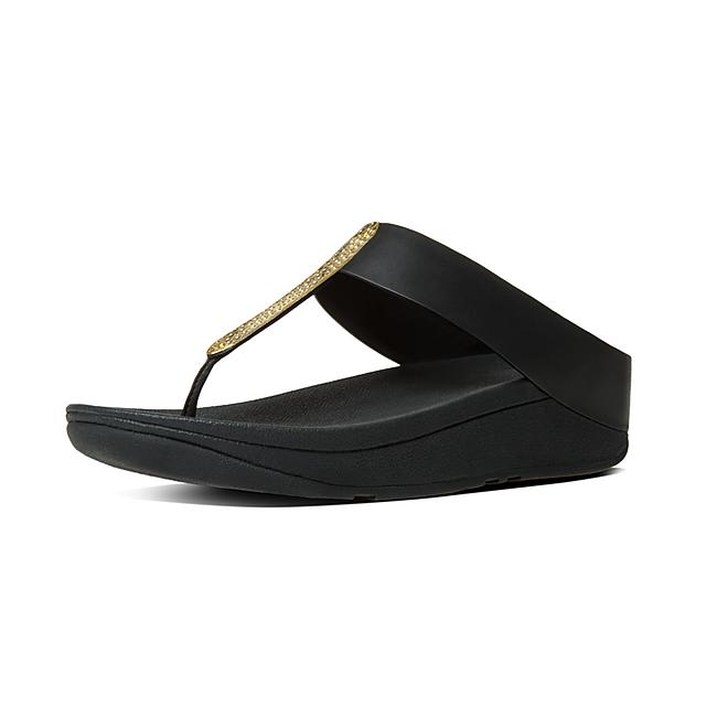 27e8511b5a5af Fitflop™ Women s Barrio Leather Toe-Thongs Black