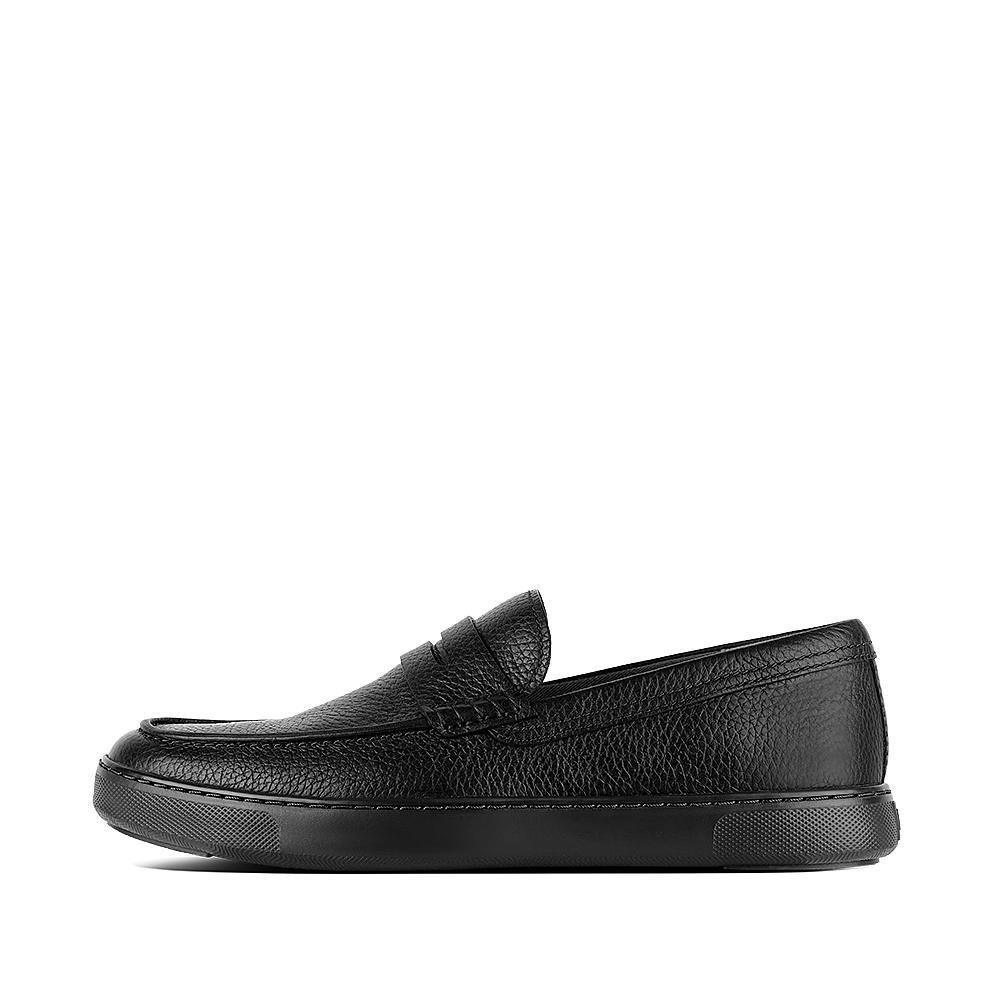 Boston leather loafer black n08 001