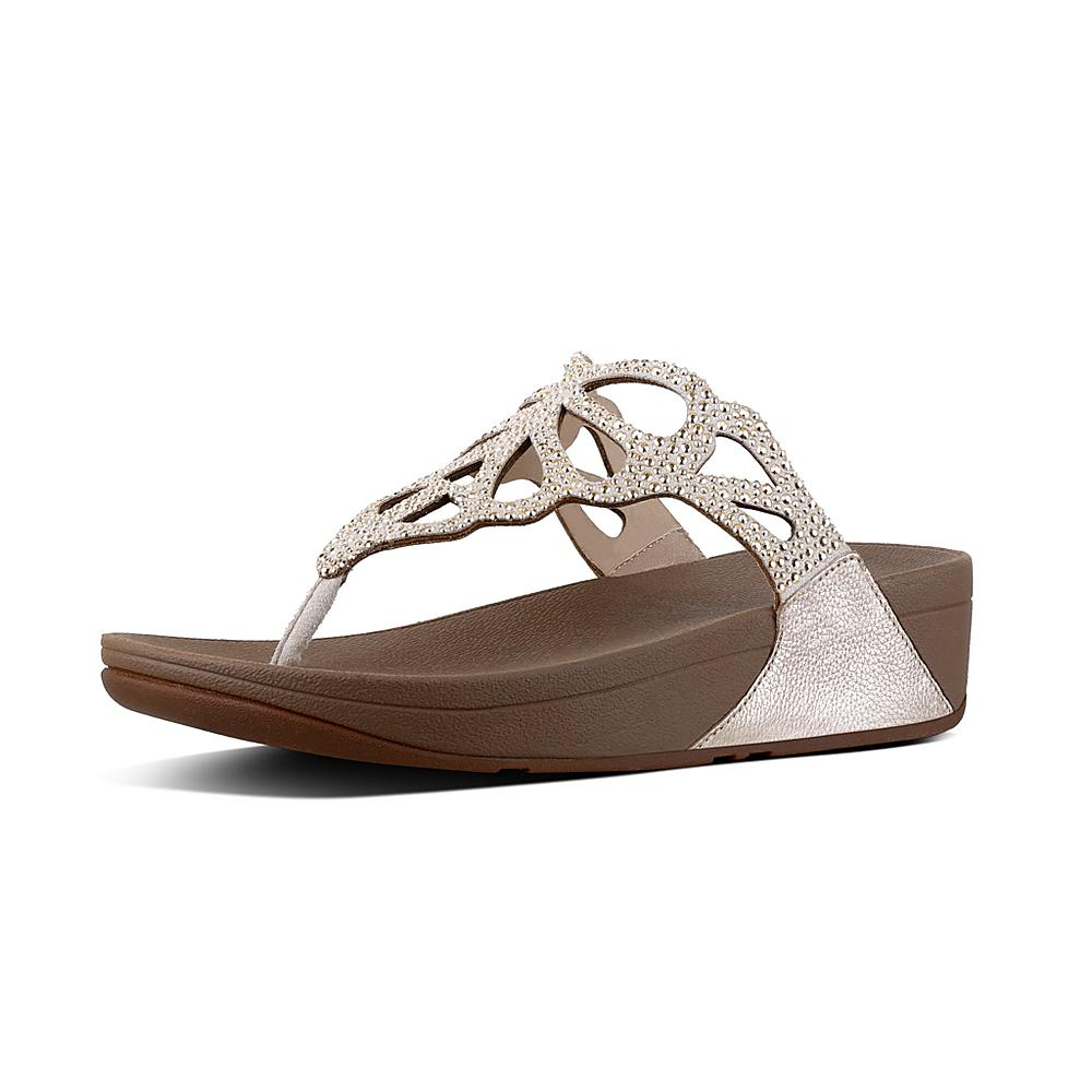 FitFlop Women's Bumble Crystal Flip Flop