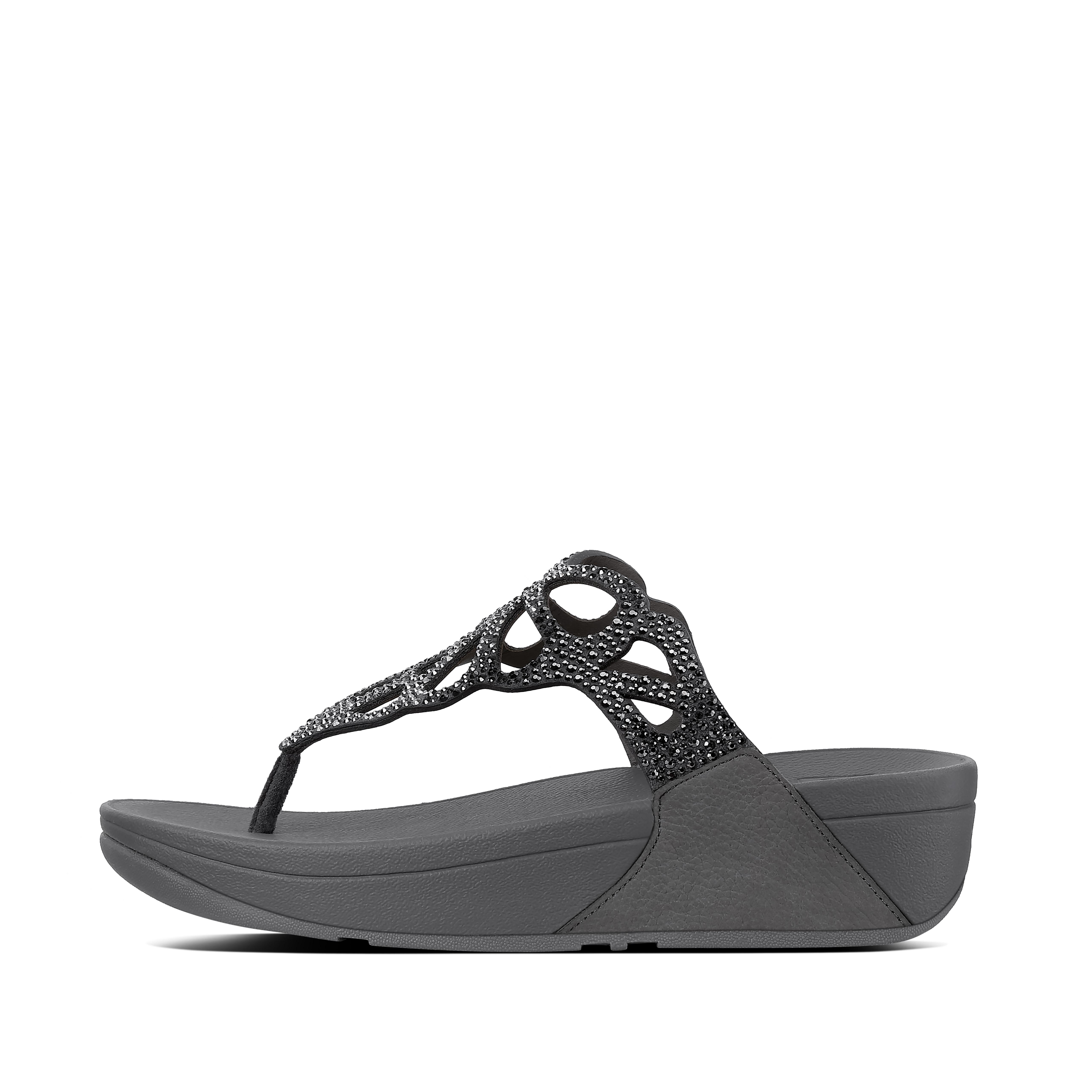 Bumble crystal toe post pewter h69 054