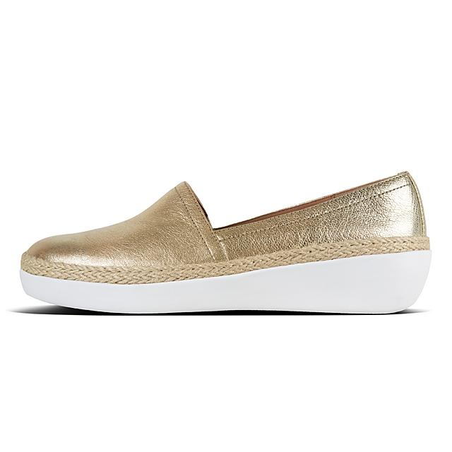 eabdb35d01a5 CASA. Metallic Leather Loafers