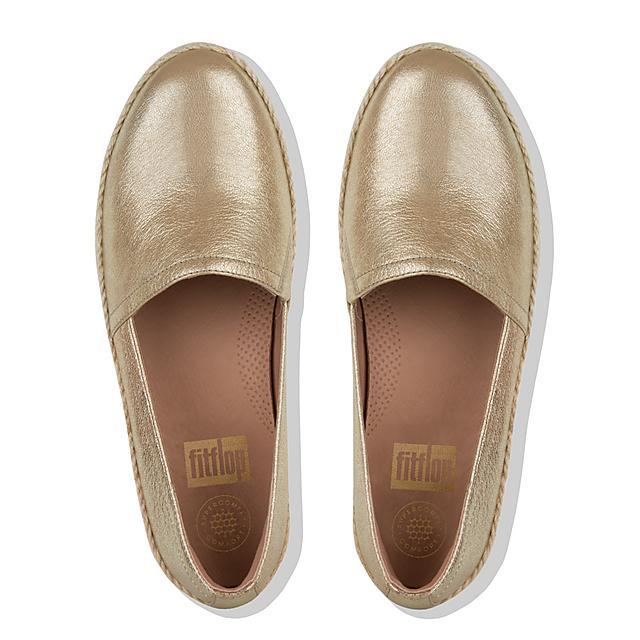 4ae7bc78b04 CASA. Metallic Leather Loafers