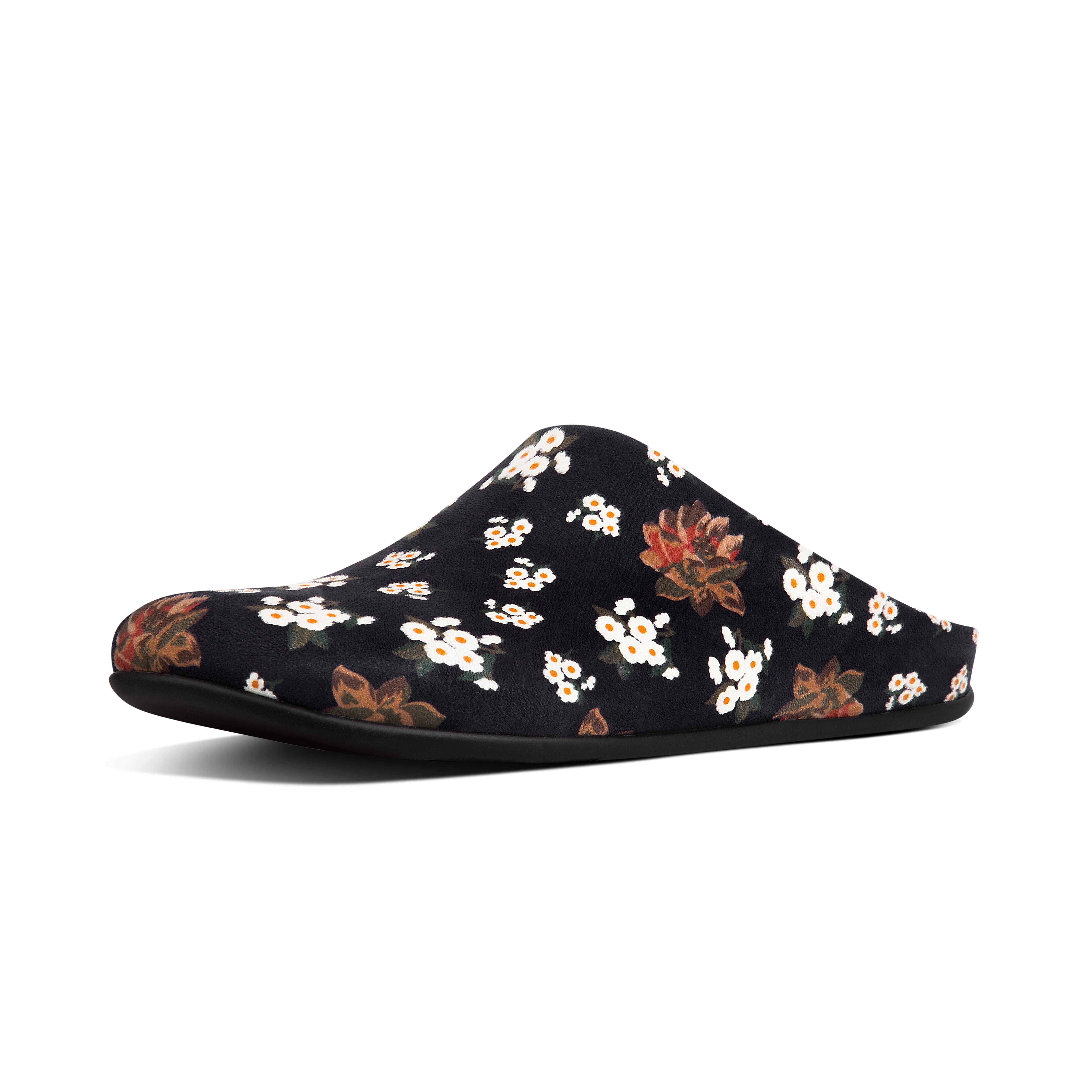 Chrissie dark floral slipper mule black n21 001?v=3