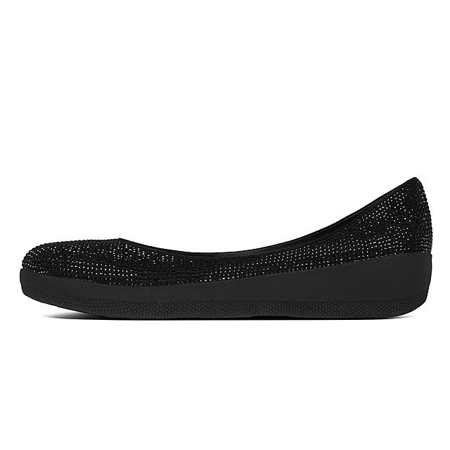 a24989036bbe Fitflop™ Women s Crystall Microfibre Ballet Flats Black