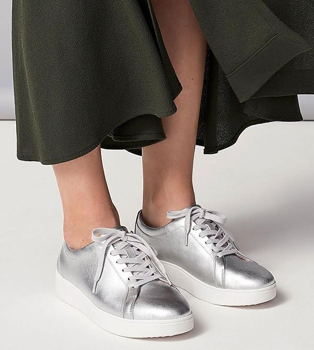Rally Classic Tennis Style Sneakers in Silver
