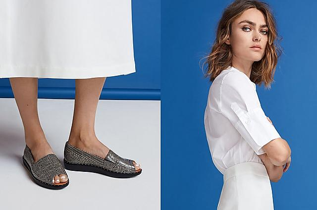 Nadia snake-embossed leather Peep-toe loafers in colour natural snake