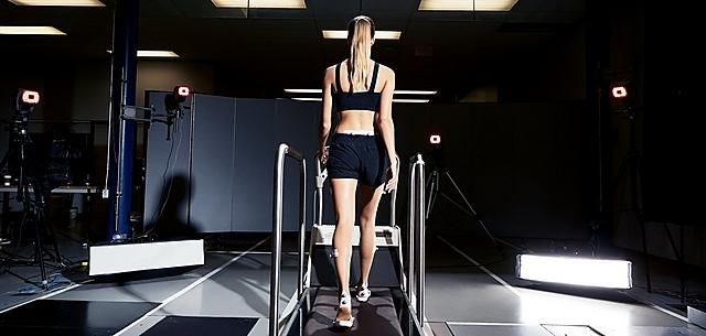 Fitflop Technology image of women walking on treadmill.