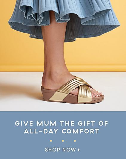 Mothers Day Gifts from Fitflop. Lulu Gold Cross over Sandals