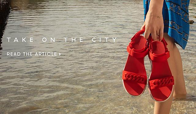 926911c4a Fitflop Go the extra mile campaign. Braid Back-Strap Sandals in Passion Red.