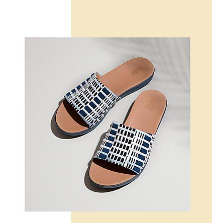 FitFlop Sola Art-Denim Slides.