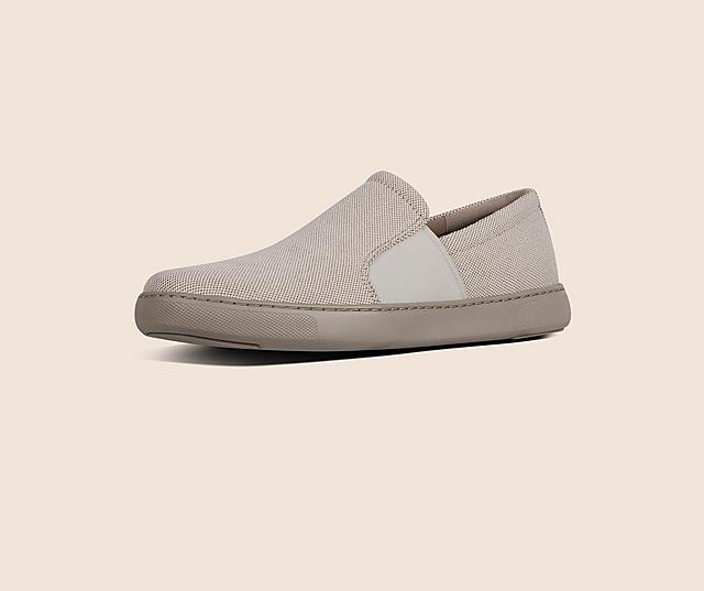 Collins Textured Canvas Slip On Skate Shoes in colour light sand.