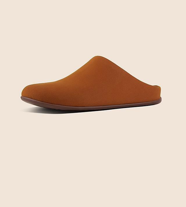 Fitflop Chrissy Slide Slippers made with Faux Suede and in the colour Berry.