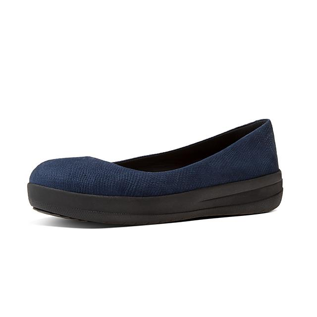 c3f36fe30 Fitflop™ Women s F-Sporty Leather Ballerinas Midnight Navy Schlange ...