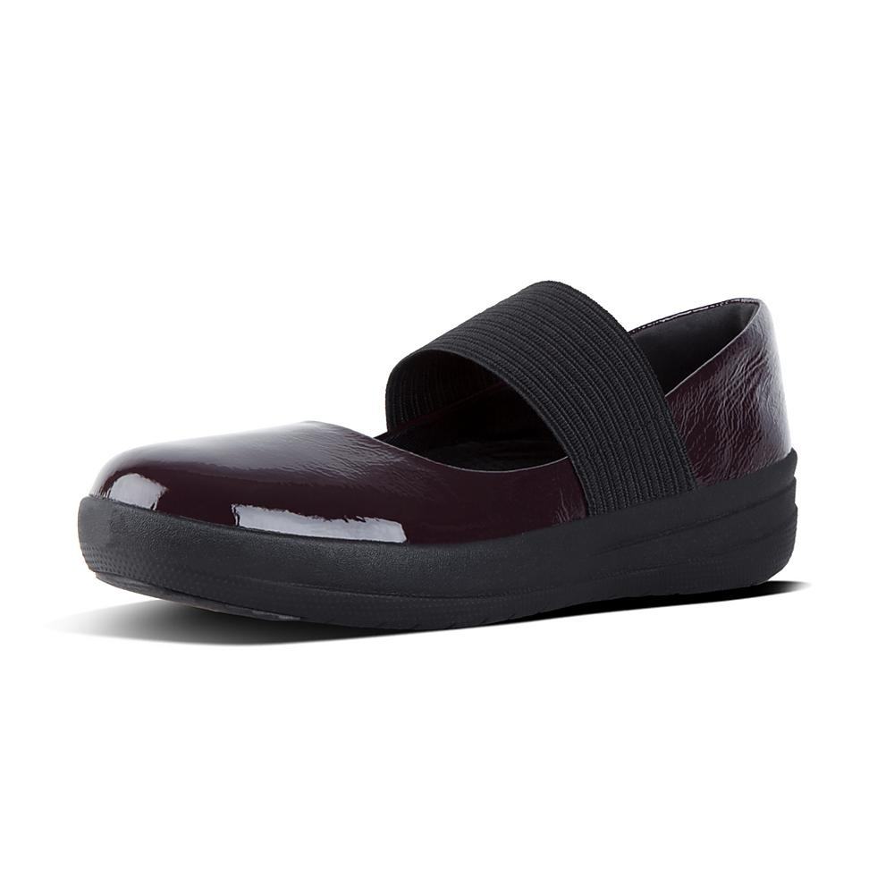 FitFlop F-SPORTY ELASTIC MARY JANE Deep Plum LHlDiL