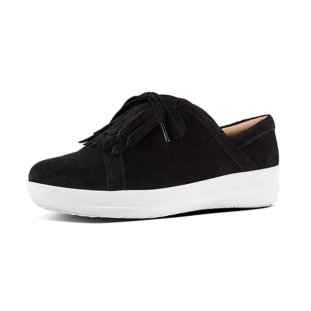 c69d97db641f45 F-SPORTY II. Fringe Suede Sneakers
