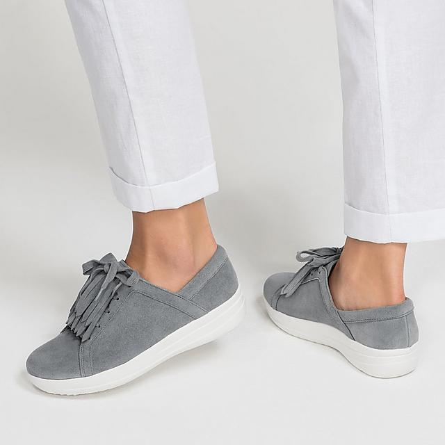 a00740f5939fde F-SPORTY II. Fringe Suede Sneakers