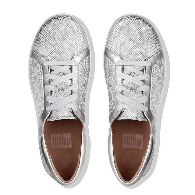 b70e78b26808 F-SPORTY II. Snake-Print Leather Sneakers