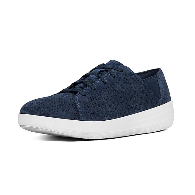 7da575772e0517 Fitflop™ F-Sporty Perf Suede Lace-Up Sneaker Midnight Navy Fitflop ...