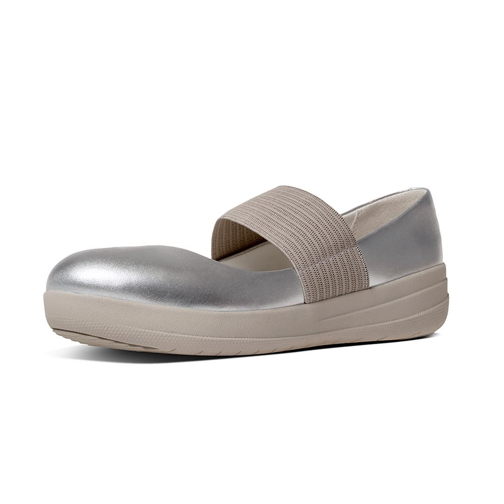 FitFlop F-Sporty Mary Jane Silver