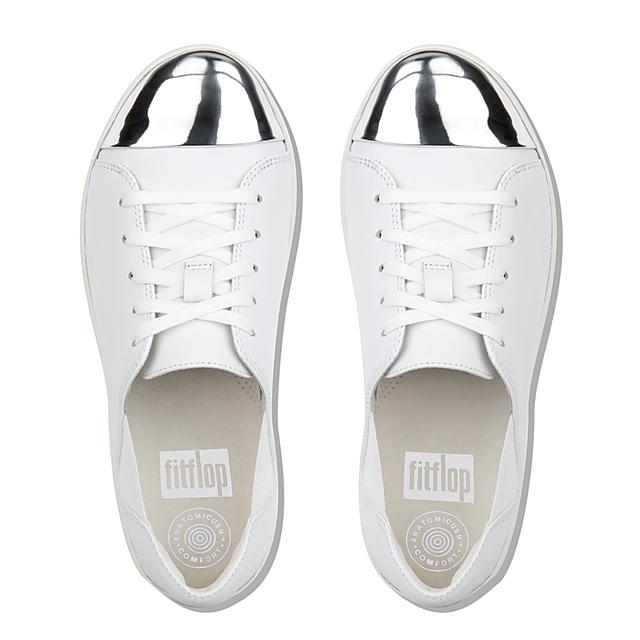 2c30d507130542 F-SPORTY. Mirror-Toe Leather Sneakers