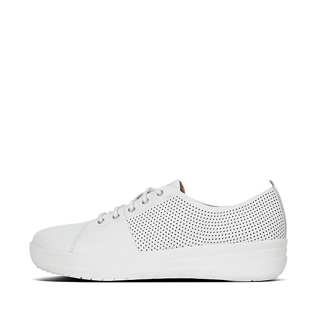 76a6cb6a9d F-SPORTY. Perf Scoop-Cut Leather Sneakers