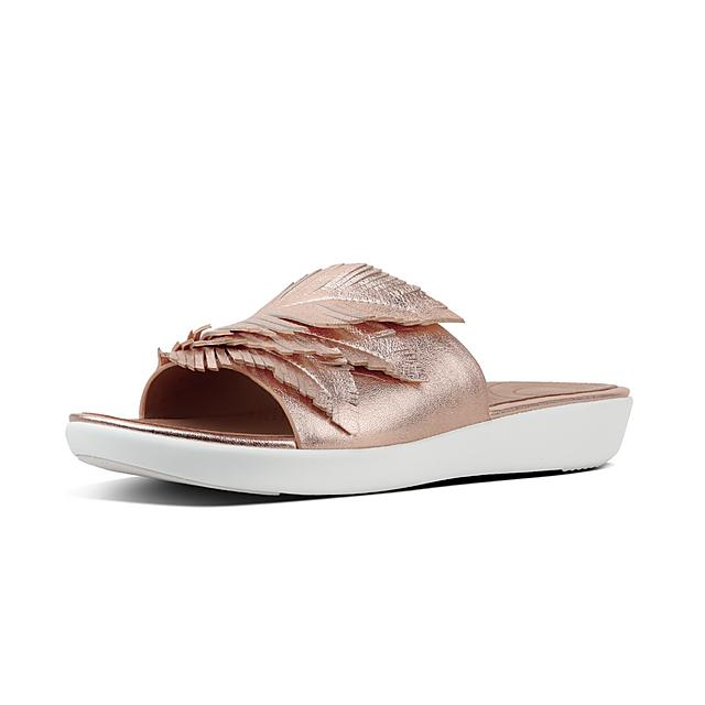 b8046cfde Women's FEATHER-SOLA Leather Slides
